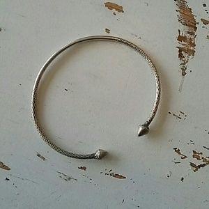 Jewelry - Sterling Silver Open Bangle Bracelet Unisex
